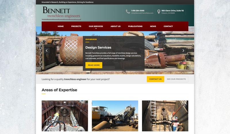 Bennett Trenchless Website