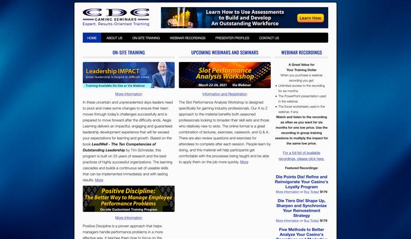 CDC Gaming Seminars Website