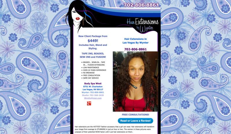 Hair Extensions Website