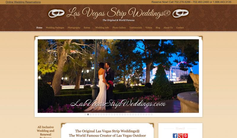 Las Vegas Strip Weddings Website
