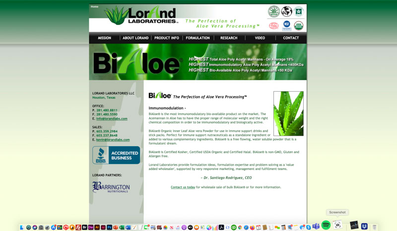 Lorand Laboratories Website