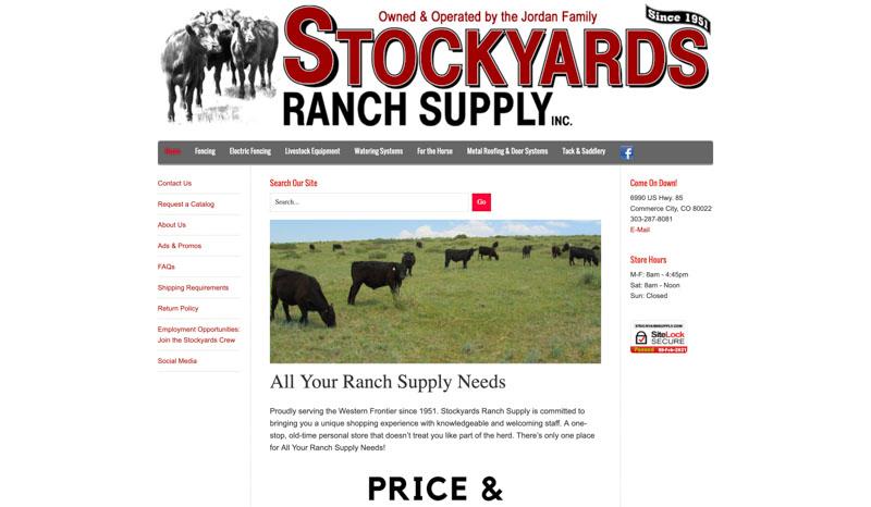 Stockyards Ranch Website